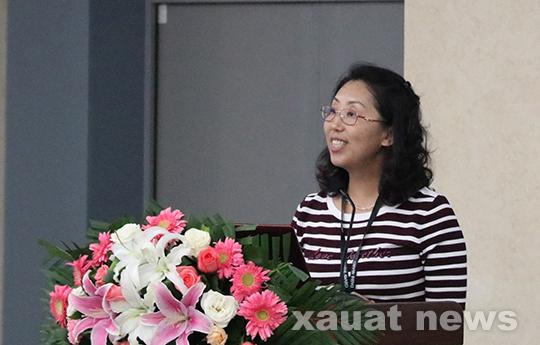 姜涛主持,艺术学院杨晴书记,同济大学林家阳教授和西安设计联合会会长